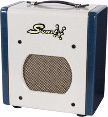 Swart Space Tone Atomic Jr. in Custom White / Ocean Sparkle
