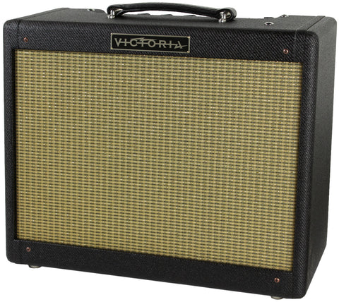 Victoria Amps 20112 Amplifier, Black Tweed, Half Power Switch