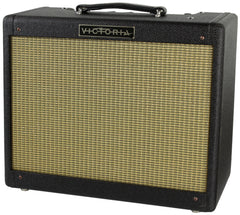 Victoria Amps Ivy League 1x12 Amplifier, Black Tweed, Half Power Switch