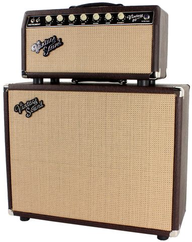 Vintage Sound Vintage 20 Head & 1x12 Cab in Brown Ostrich