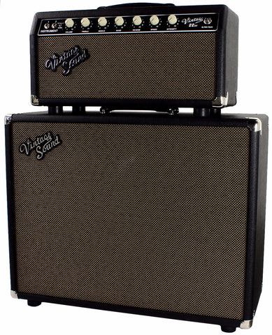 Vintage Sound Vintage 22sc Head & 1x12 Cab, Black, Tan