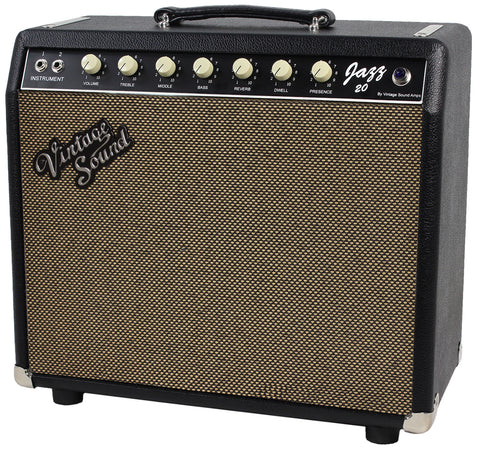Vintage Sound Jazz 20 1x12 Combo Amp - Black - Tan