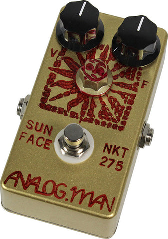 Analog Man SunFace Pedal w/ High Gain NKT-275 Sundial On/Off Fuzz Pot - Humbucker Music