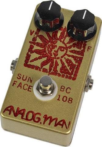 Analog Man SunFace Pedal w/ Silicon BC-108 - Humbucker Music