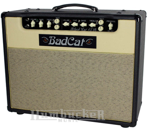 Bad Cat Black Cat 15R Reverb Combo Amp - Black / Cream - Humbucker Music