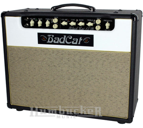Bad Cat Black Cat 15R Reverb Combo Amp - Black / White - Humbucker Music