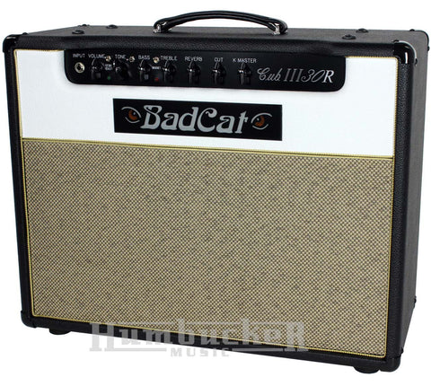 Bad Cat Cub III 30R Reverb Combo Amp - Black / White - Humbucker Music