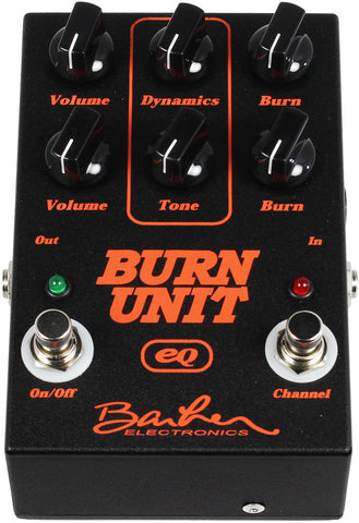 Barber Burn Unit EQ Pedal - Overdrive/Distortion with Internal EQ - Humbucker Music