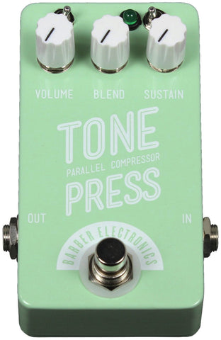 Barber Compact Tone Press Pedal - Surf Green - Humbucker Music