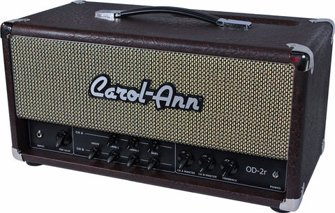 Carol-Ann OD2r Head in Brown Ostrich - Humbucker Music