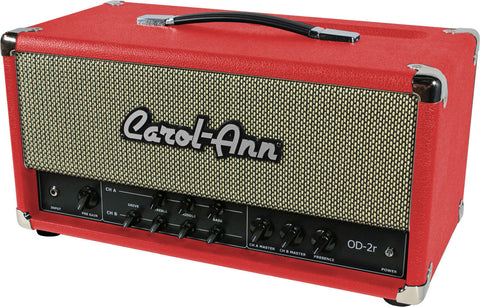 Carol-Ann OD2r Head in Red - Humbucker Music