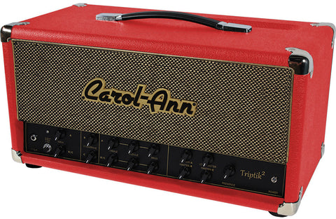 Carol-Ann Triptik-2 50/18 Watt LP Head in Red - Humbucker Music
