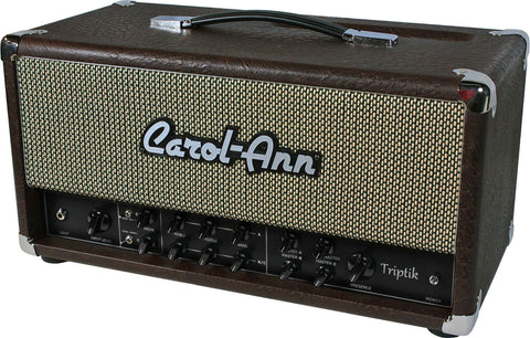 Carol-Ann Triptik 50 Head in Brown Ostrich - Humbucker Music