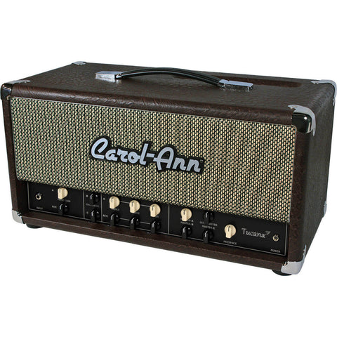 Carol-Ann Tucana 3r Head in Brown Ostrich - Humbucker Music