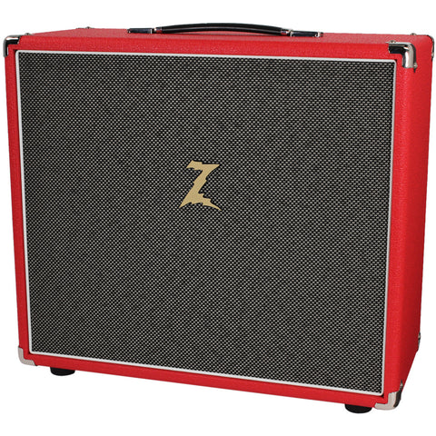 Dr. Z 1x12 Speaker Cabinet - Red w/ Salt and Pepper Grill