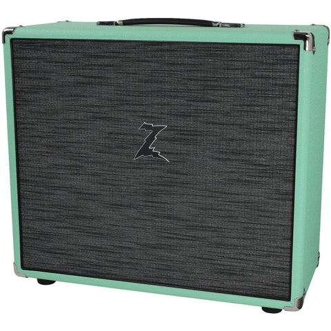Dr. Z 2x10 Speaker Cab - Surf Green w/ Z-Wreck Grill
