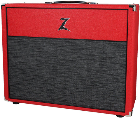 Dr. Z 2x12 Open Back Cab - Red w/ Z-Wreck Grill