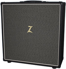 Dr. Z 4x10 Backline Speaker Cab - Black w/ Salt & Pepper Grill