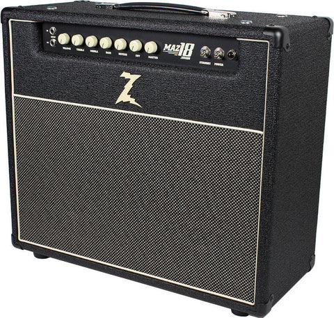 Dr. Z Maz 18 Jr Reverb Combo - Black w/ Salt & Pepper Grill