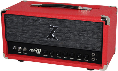 Dr. Z Maz 38 Sr Head w/ Reverb in Red w/ ZW Grill