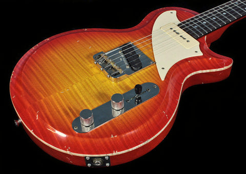 Fano SP6 Guitar in Cherry Sunburst w/ Flamed Maple Top