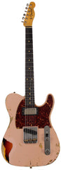 Fender Custom Shop Limited 1960 HS Tele Custom, Heavy Relic, Dirty Shell Pink over 3 Tone Sunburst