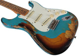 Fender Custom Shop 57 Heavy Relic Strat Limited Guitar, Taos Turquoise o/ 2TS