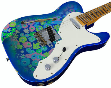 Fender Custom Shop LTD '50s Tele Thinline Relic, Blue Flower
