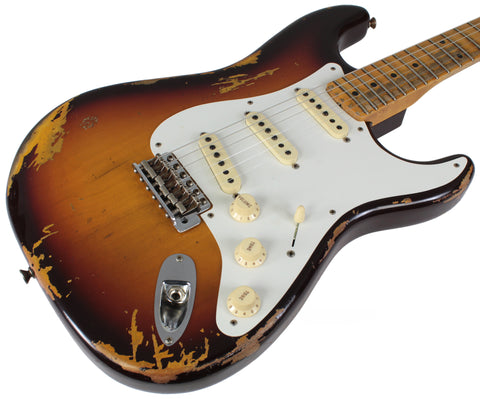 Fender Custom Shop Heavy Relic 1958 Stratocaster, Chocolate 3TS