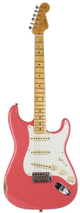 Fender Custom Shop 58 Relic Strat Guitar, Super Faded Fiesta Red