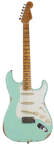 Fender Custom Shop 58 Relic Strat Guitar, Super Faded Surf Green