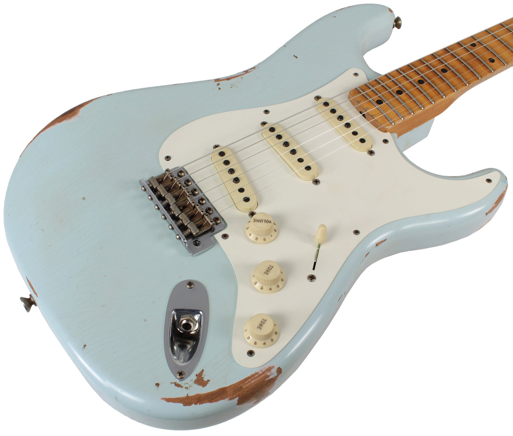 fender custom shop 58 relic strat guitar super faded sonic blue humbucker music. Black Bedroom Furniture Sets. Home Design Ideas