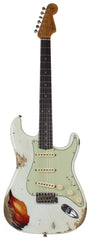 Fender Custom Shop 62 Heavy Relic Strat Guitar, Olympic White o/ 3TS