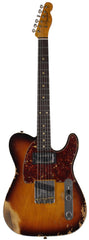 Fender Custom Shop Limited 1960 HS Tele Custom, Heavy Relic, Aged, Faded 3 Tone Sunburst