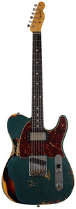 Fender Custom Shop Limited 1960 HS Tele Custom, Heavy Relic, Aged Ocean Turquoise over 3 Tone Sunburst
