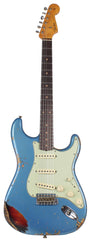 Fender Custom Shop 62 Heavy Relic Strat Guitar, Lake Placid Blue o/ 3TS