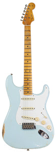 Fender Custom Shop 1956 Relic Strat Guitar, Faded Sonic Blue