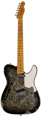 Fender Custom Shop LTD Double Esquire Thinline Custom Relic, Aged Black Paisley