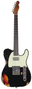 Fender Custom Shop Ltd Heavy Relic Reverse Custom HS Tele, Black o/ 3TS