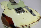 Fender Custom Shop Ltd Heavy Relic Reverse Custom HS Tele, Olympic White o/ 3TS