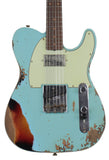 Fender Custom Shop Ltd Heavy Relic Reverse Custom HS Tele, Daphne Blue o/ 3TS