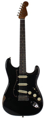 Fender Custom Shop LTD Black Roasted Dual-Mag Strat Relic, Black