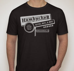 Humbucker Music Vintage Retro Guitar Store T-Shirt, Black