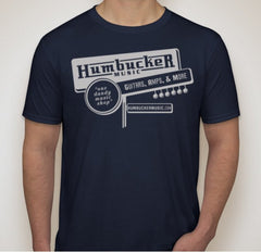 Humbucker Music Mens T-Shirt - Navy Blue