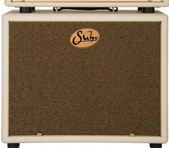 Suhr 1x12 Speaker Cabinet - Cream / Gold Grille
