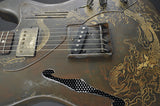 . Trussart Deluxe Steelcaster - Rust on Cream - Dragon