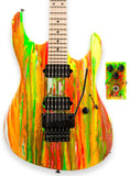 . Suhr 80s Shred Guitar - Neon Drip - Scalloped