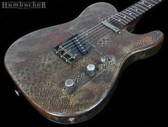 Trussart Steelcaster Rust on Cream Snakeskin