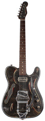 Trussart Deluxe SteelCaster Guitar, Rust O Matic Pinstripe, B16