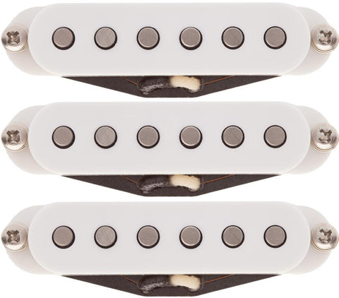 Lollar Strat Dirty Blonde Pickup Set, White